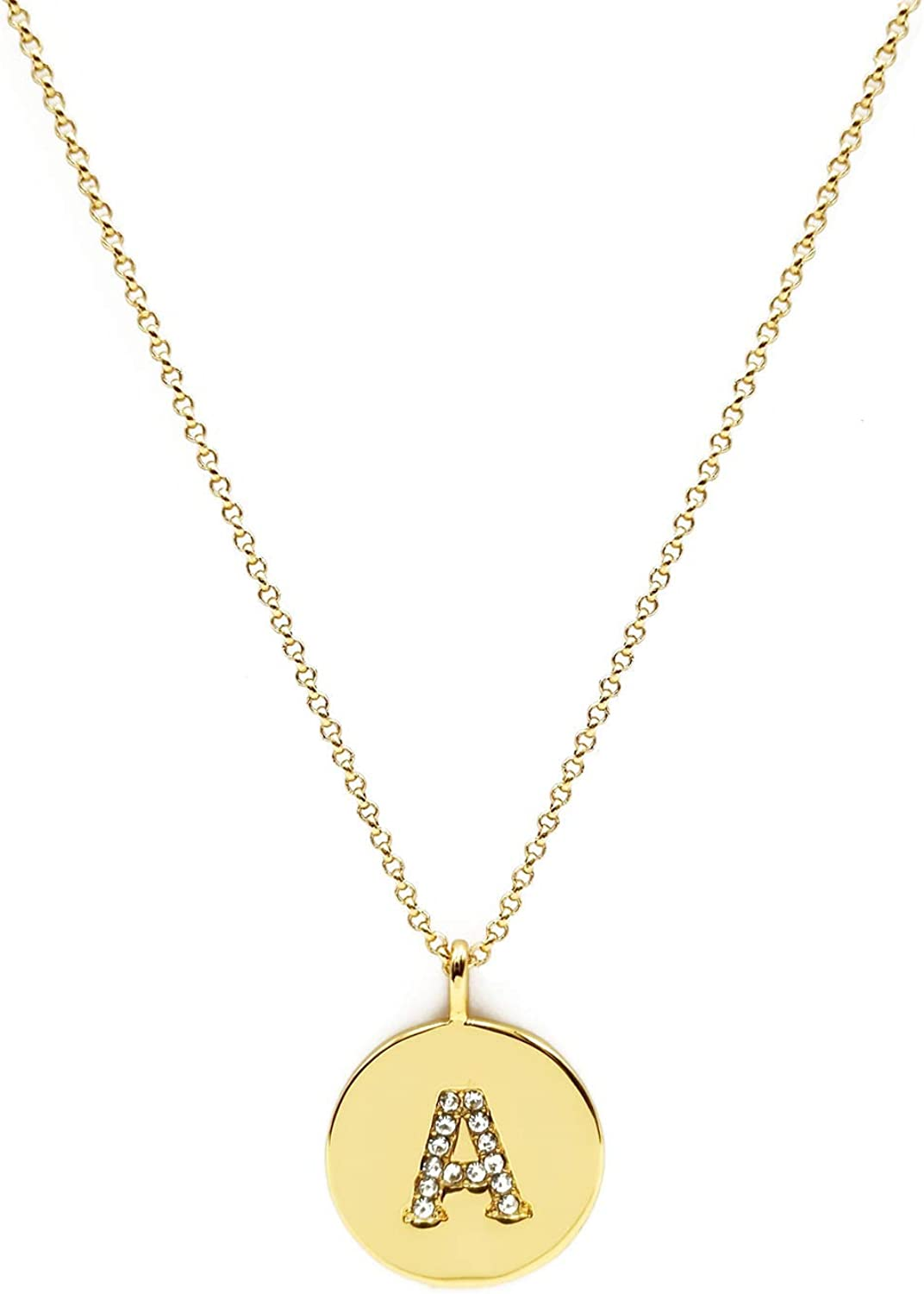 Urbanstrive 18K Adjustable Long Plated Initial Necklace Letter Gold Necklaces for Women, Ideal Gift for Women Girls Kids Friends, 26