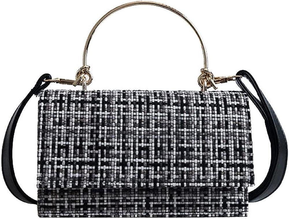 Autumn Winter Women Handbag Travel 5% OFF Max 78% OFF Shoulder Mini Female Weave Ba