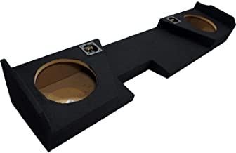 """Compatible with 2014 - UP Chevy Silverado Double Cab Truck Dual 10"""" Sub Box Subwoofer Enclosure"""