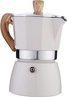 Nobranded Cafetera Italiana Moka Espresso CAFÉ percolador Olla Estufa cafetera 150ml/350ml - Blanco 300ml