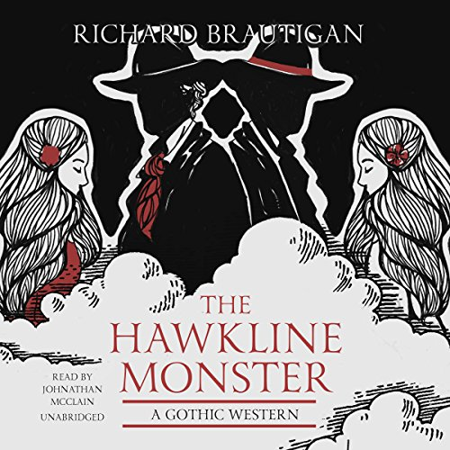 The Hawkline Monster audiobook cover art