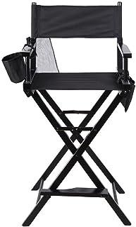 Silla de director Niceao profesional, plegable, portátil, de madera con bolsillos laterales para estudio, maquillaje de artistas, director de películas, etc.