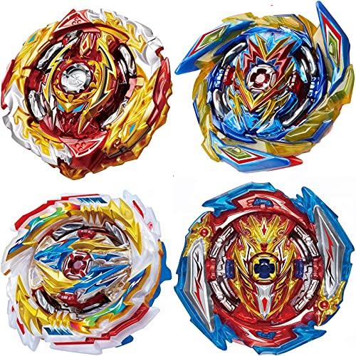 BaiYunPOY 4Pcs Bey Battle Top Gyro Burst Metal Fusion Fury, Burst Battling Tops with Stickers Set, Boys Kids Party Birthday Idea