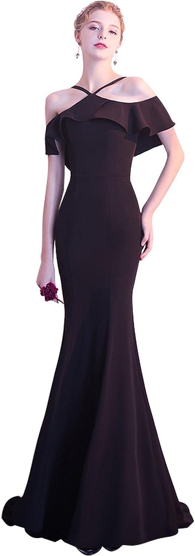 Epinkbridal Women's Mermaid Evening Prom Dress Spaghetti Straps Floor Length Wedding Party Gowns