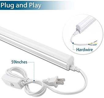 (Pack of 12) Barrina LED T5 Integrated Single Fixture, 4FT, 2200lm, 6500K (Super Bright White), 20W, Utility Shop Lig...