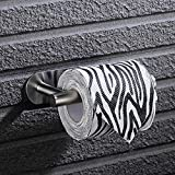 Tagve Stainless Steel Wall Mount Self Adhesive Toilet Paper Roll Holder for Bathroom and Kitchen (1, Silver)