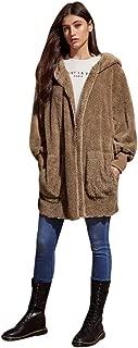 Womens Casual Warm Long Sleeve Solid Pocket Zipper Coat Outwear Jacket Overcoat Tops (S-2XL)