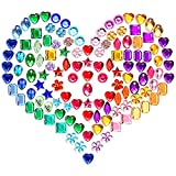 HZEYN 120PCS Acrylic Rhinestone Shoe Charms for Women Different Style Colorful Heart Flower Crystal Shoe Decoration Charms DIY Supply (Acrylic Rhinestone)