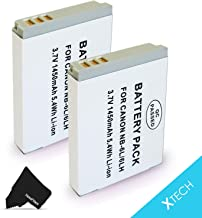 2 Pack NB-6L / NB6L Battery for Canon PowerShot SX540 SX530 SX610 SX600 SX710 SX700 SX520 SX510 SX500 SX280 SX260 SX170 SD...