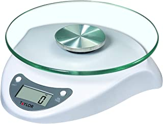 Taylor Precision Products 3831BL 3831WH Digital Glass-Top Kitchen Scale, One Size, white