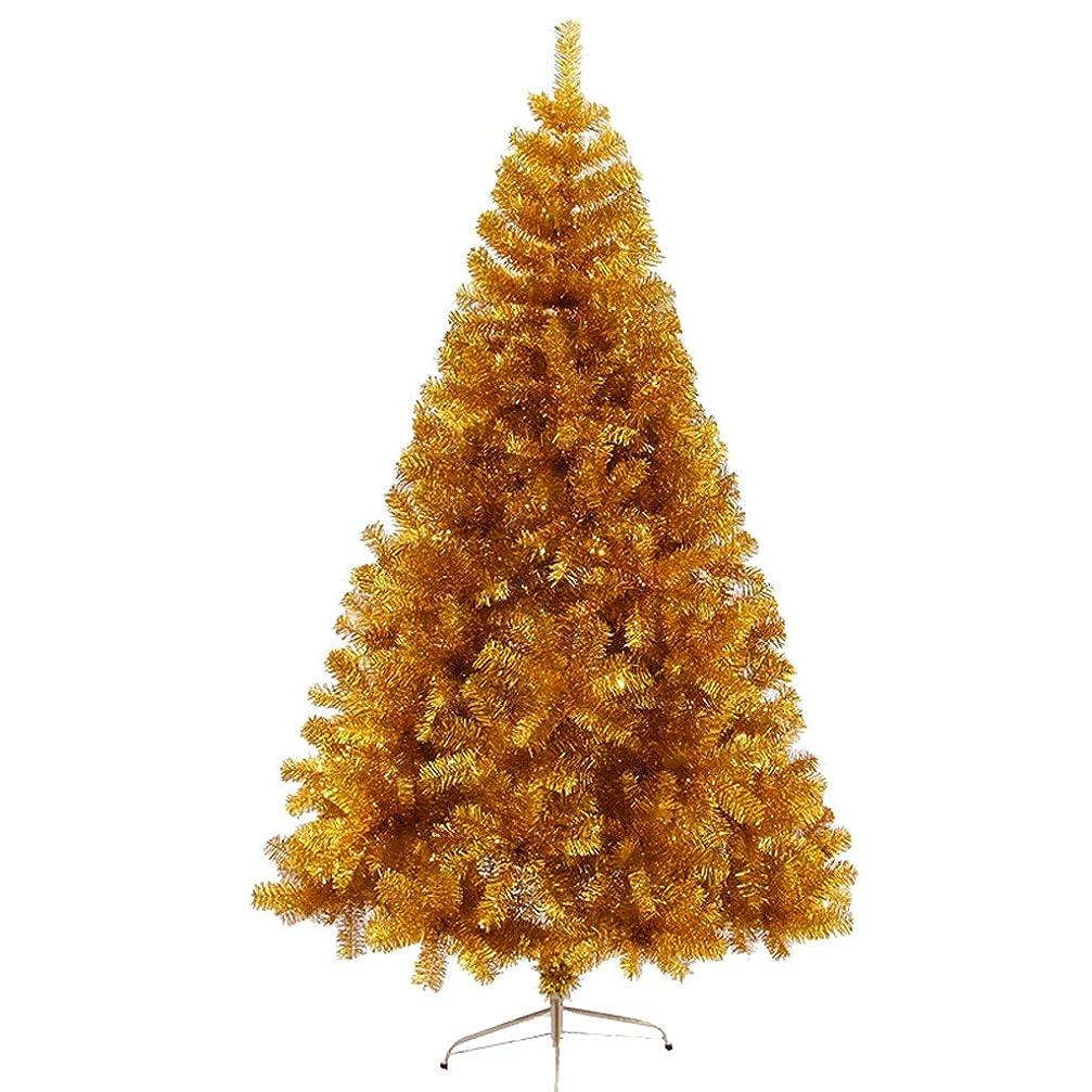 スリラー一般的に有害サンタクロースツリーPVC素材ゴールドクリスマスツリークリスマスパーティーの装飾クリスマスツリーの家族飾るクリスマスツリー (サイズ : 180cm)