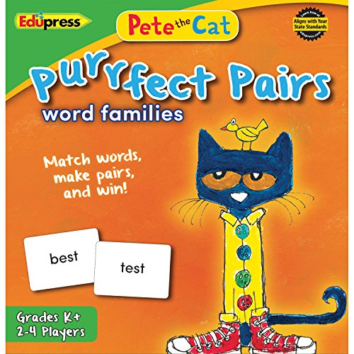 Edupress Pete The Cat Purrfect Pairs Game: Word Families (EP-3532), EP63532
