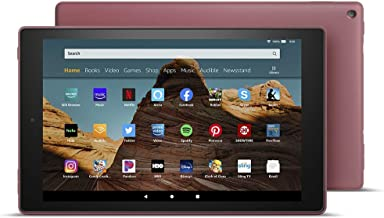 "Certified Refurbished Fire HD 10 Tablet (10.1"" 1080p full HD display, 32 GB) – Plum"