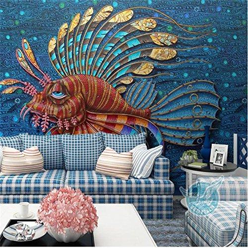 Yosot aangepaste 3D foto behang muurschildering niet-geweven woonkamer tv bank achtergrond muur papier tropische regio guppy behang huisdecoratie 140cmx100cm