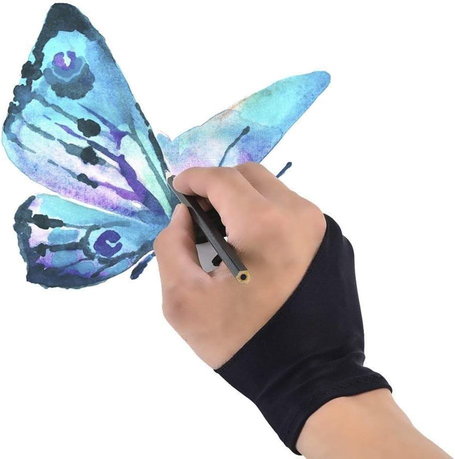 Sin fricción, los protectores de los artistas de Smudge Protector son perfectos for tabletas, cajas gráficas, monitores gráficos y iPad Pro Pencil Oil Drawing Tablet 10 PCS Varios guantes