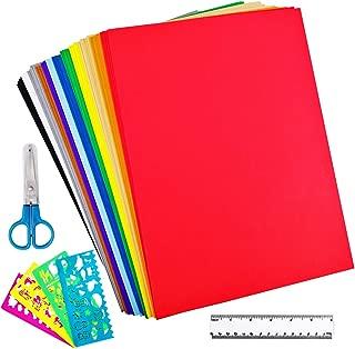 Supla 48 Sheets 12 Colors EVA Foam Handicraft Sheets 2mm Thick Craft Foam Sheets 9