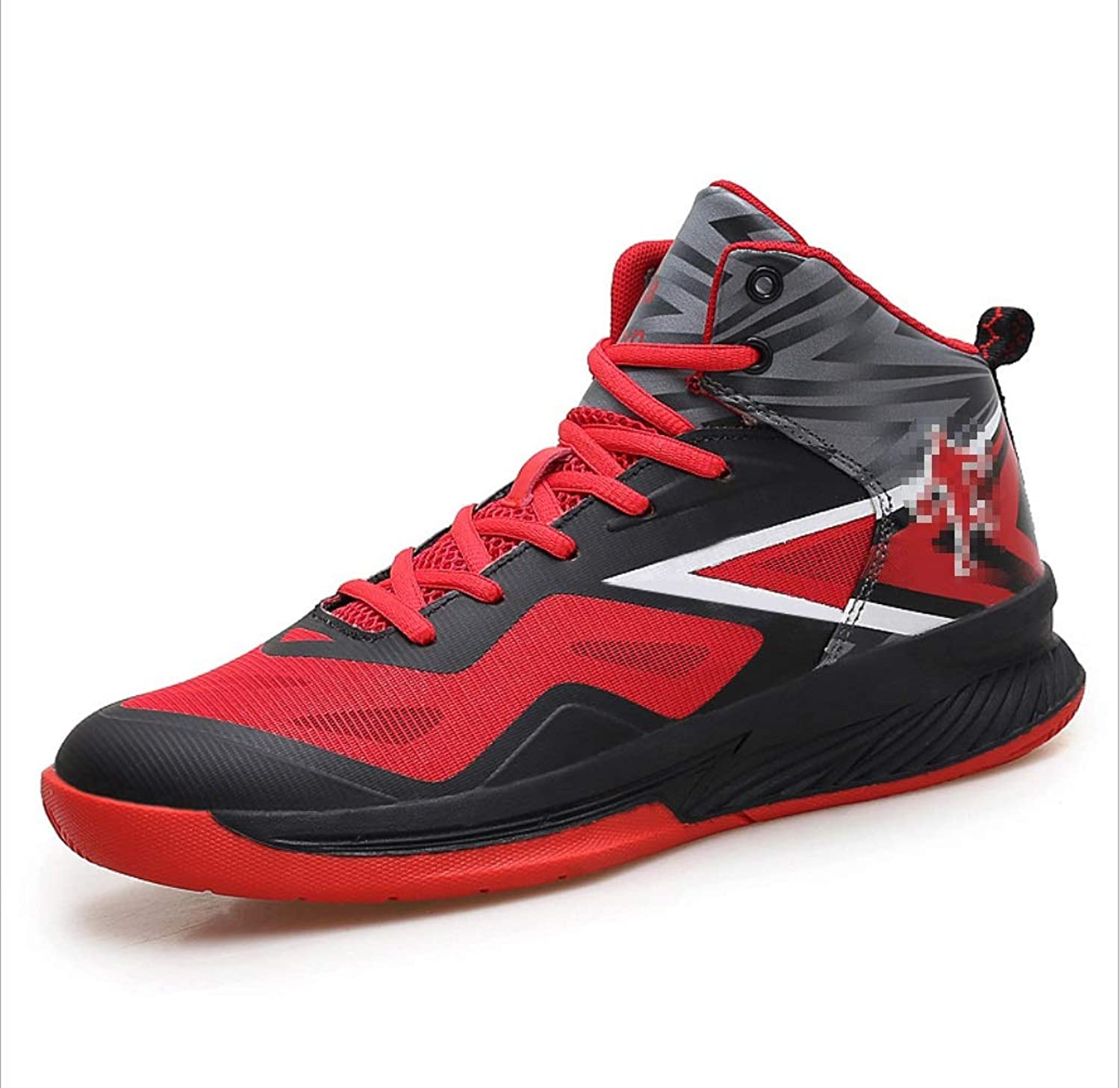 SHANGWU Men's Fashion Basketball shoes High To Help Men's shoes Autumn Wear And Breathable Increase Students Graffiti Casual shoes Combat shoes