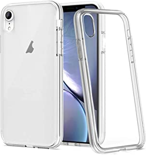 """for iPhone XR Case, Kinoto Clear Lifeproof Cases for Apple iPhone XR 6.1"""" Qi Slim Silicone Hard Transparent Cover Hybrid S..."""