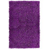 Lashuma - Alfombrilla de baño, chenilla, alfombra de baño, algodón, morado, 50 x 80 cm