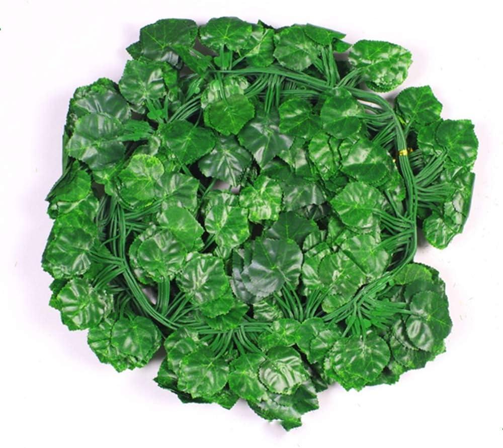 12 hebras Artificial Ivy Garland Follaje Hojas Verdes Colgante Falso Planta de Vid para el Banquete de Boda Jardín Decoración de la Pared 2M