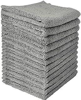 OBA Cotton Washcloths Towels - Set of 12 (Grey)