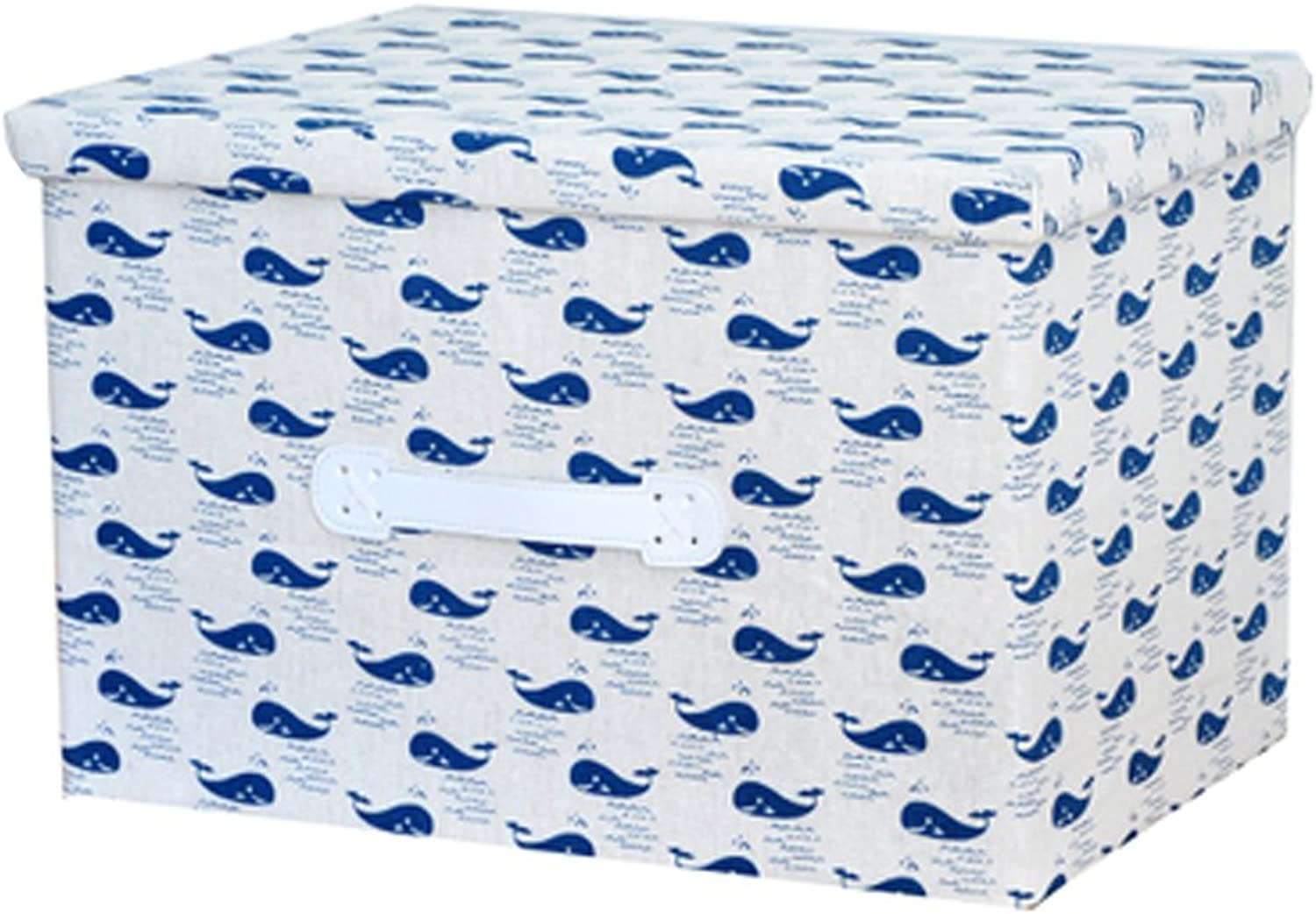 Convenient Storage Organizer Box Basket Container for Home Foldable, Whale Tribe
