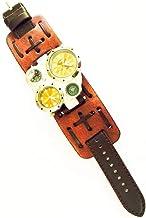 Relógio Steampunk Pulso Esportivo + Fuso Horário + Bússola + Termômetro - 6cm