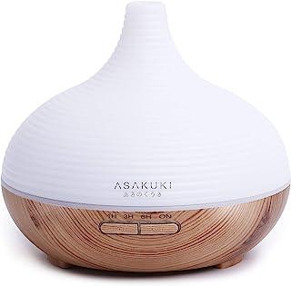 ASAKUKI Aromadiffuser voor geurolieën, 300 ml, premium ultrasone luchtbevochtiger, aromatherapie oliën diffuser met 7-kleu...