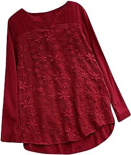 Women Tops, ANJUNIE Long Sleeve Loose Cotton V-Neck Shirt Fashion Slim T-Shirt