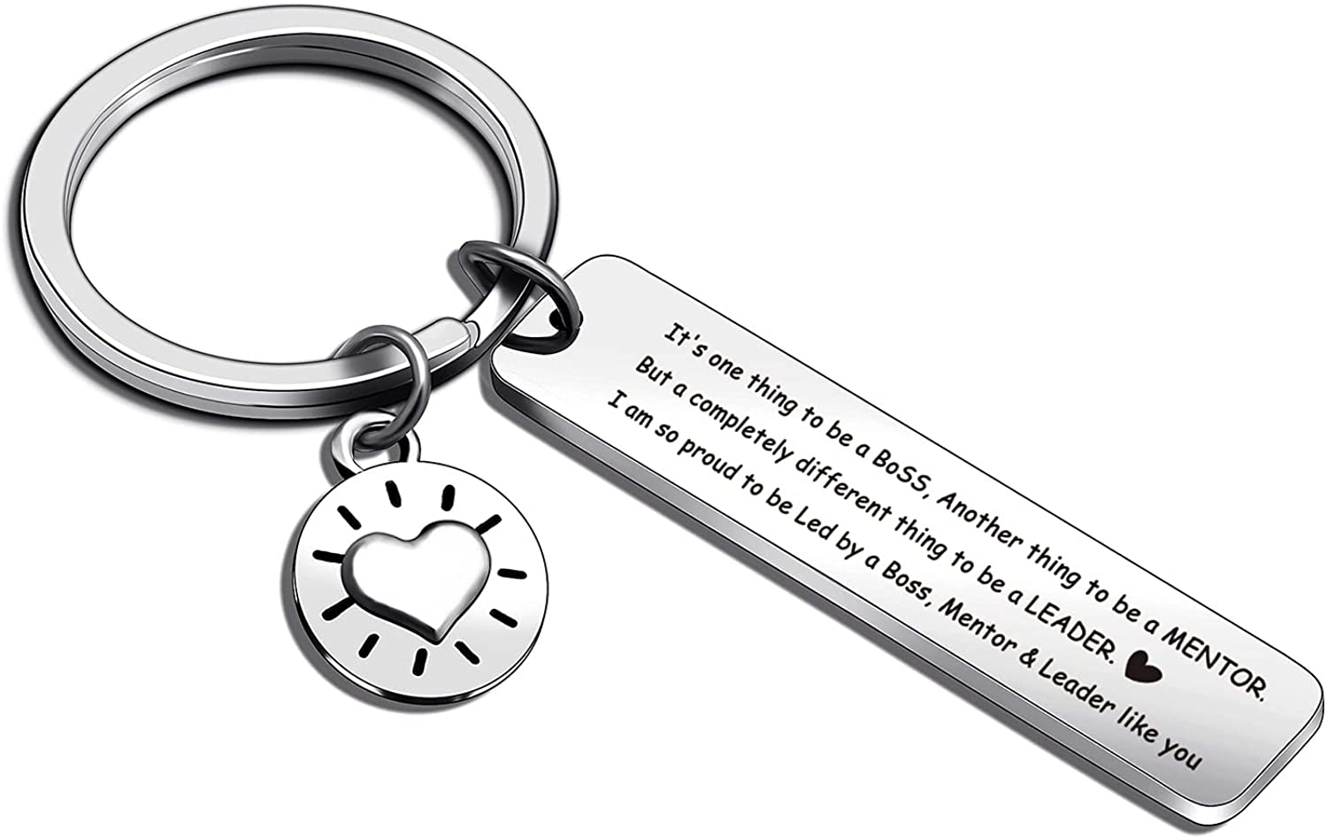 ASANHAO Leadership Gift Boss Jewelry Leader Thank You Gift Mentor Appreciation Keychain