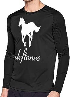 Mens Classic Deftones Horses Log Long Sleeve Raglan Baseball T Shirts Black