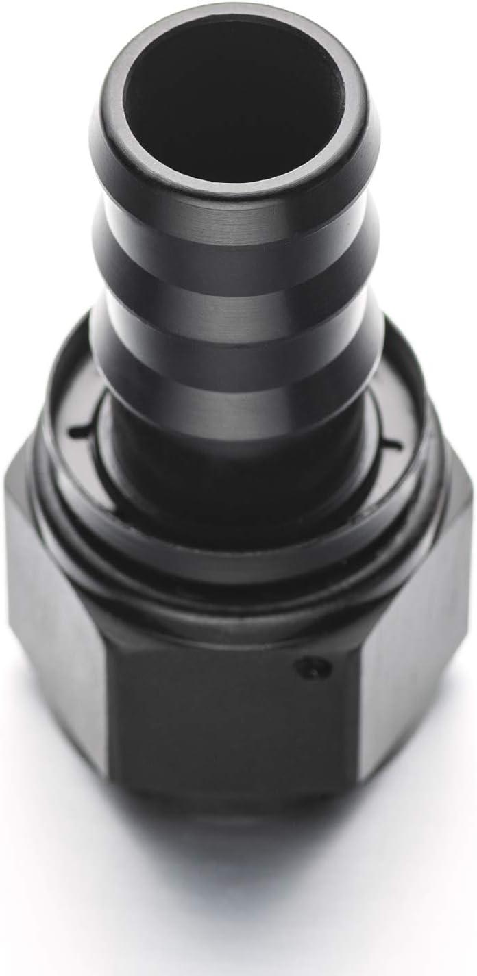 AN Fittings Aluminum 3//8 Hose x AN06 Push On Hose End Straight Black