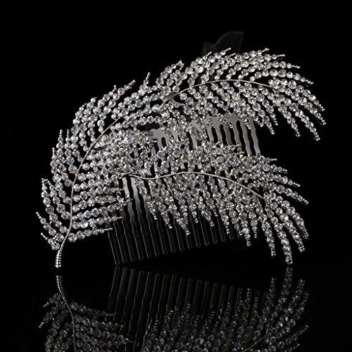 niumanery Bride Hair Comb Rhinestone Luxury Headwear Women Jewelry Wedding Decoration Gift
