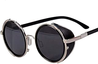Arctic Star 80's Style Vintage Style Inspired Classic Round Sunglasses Very Popular (Silver frame)