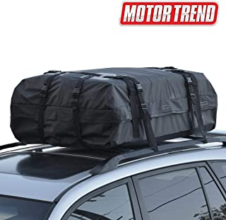 Motor Trend RC-200 High Capacity Rooftop Cargo Carrier Bag – Heavy-Duty Waterproof Design for Top of Vehicle (Car, Sedan, Van, Truck & SUV)
