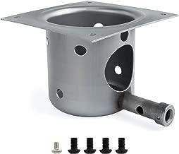 SHINESTAR Fire Burn Pot for Traeger, Pit Boss Pellet Grills, Heavy Duty Steel Fire Pot Replacement Parts