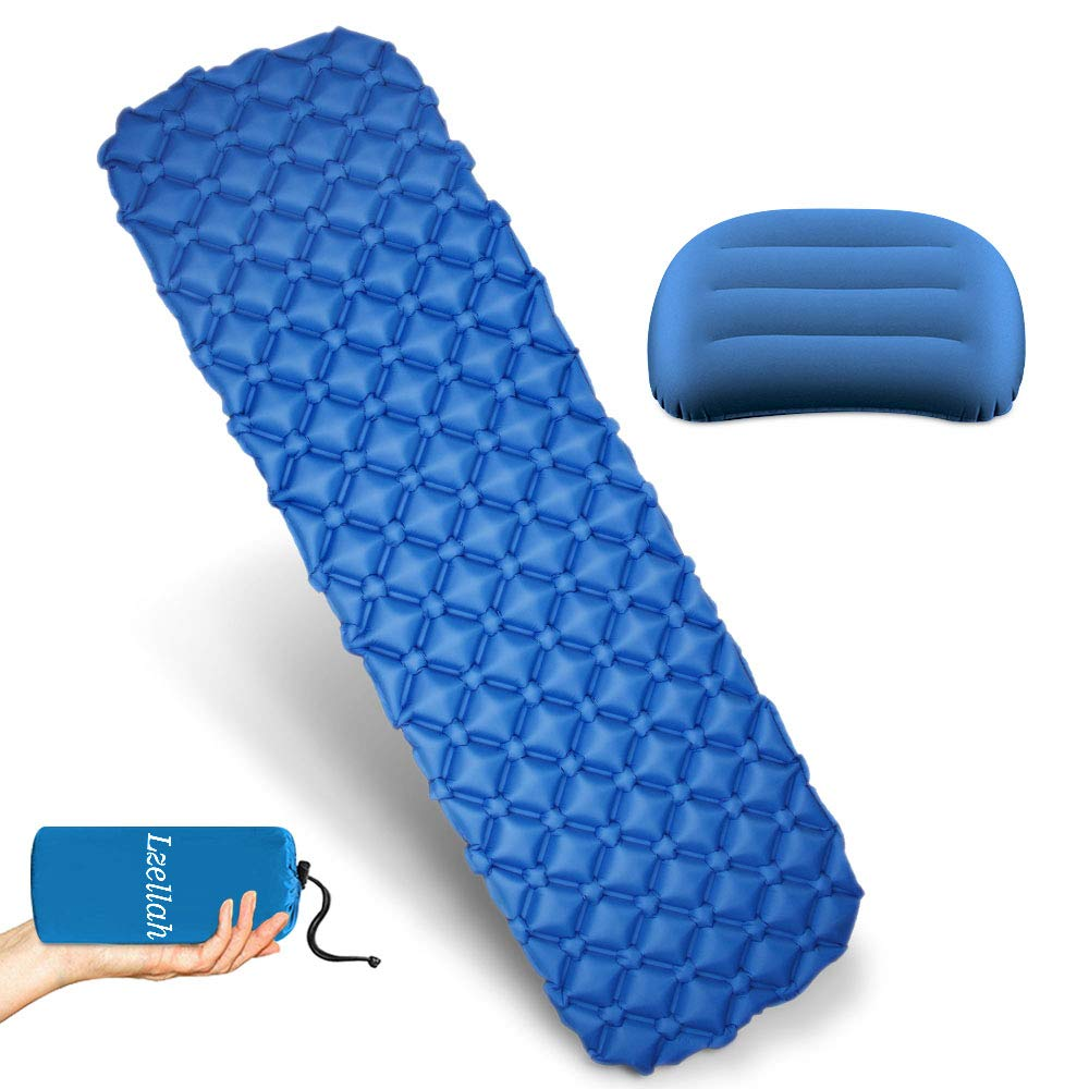Ultralight Camping Sleeping Pad Inflatable Travel Pillow Lightweight Compact