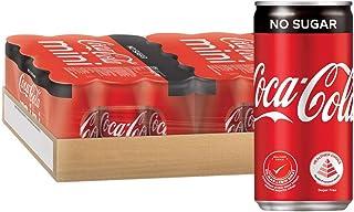 Coca-Cola No Sugar Mini Cans, 180 ml (Pack of 24)