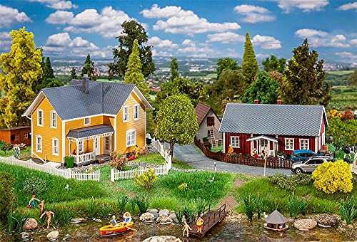 Faller FA130604 2 Schwedenhäuser Modellbausatz, verschieden