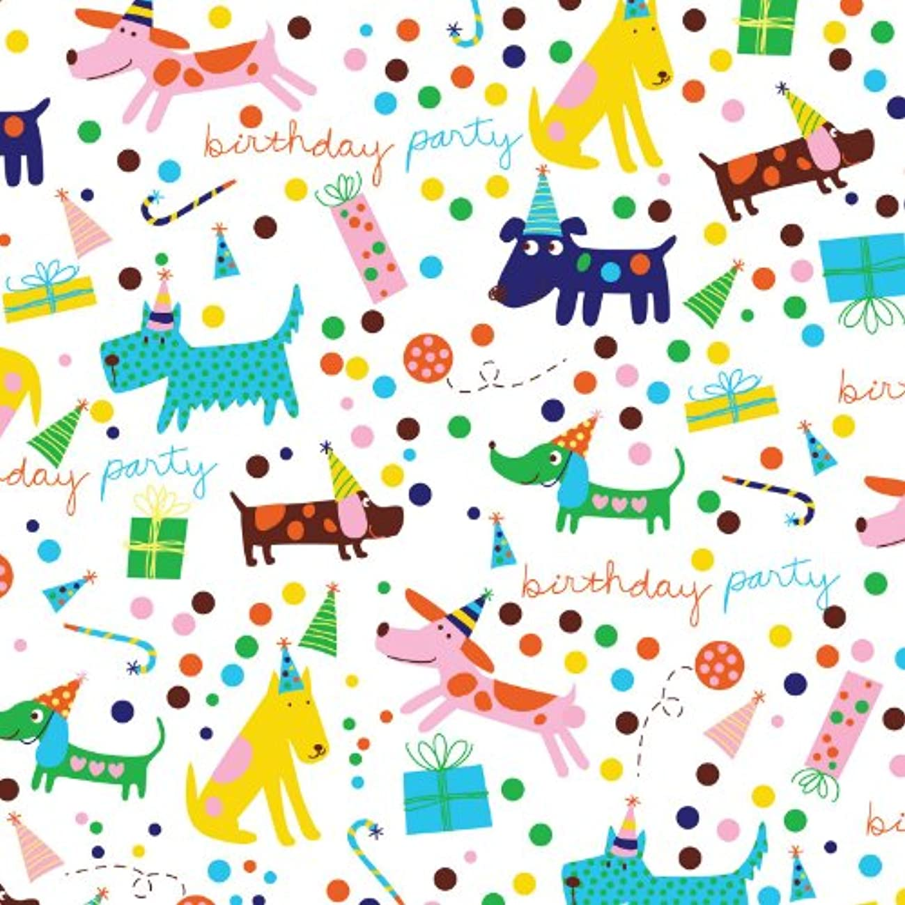 Jillson Roberts 6-Roll Count Premium Gift Wrap Available in 19 Different Designs, Birthday Barkday