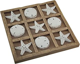 Starfish and Sand Dollar 9 inch Tic Tac Toe Game Board