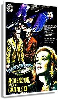 classic Vintage Film Noir Ascenseur Pour L'echafaud 1958 Poster Prints Giclee Poster Canvas Oil Painting Wall Artwork for ...