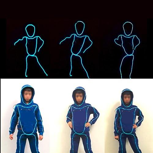 WSXX VêteHommests de représentation de lumière Froide de vêteHommests Lumineux d'enfants Hommesés, Accessoires Lumineux de représentation de Danse