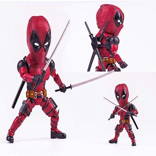 RGLIN Avengers Marvel Toys Statue de Deadpool Q Edition Statue de Deadpool 17cm Modèle Deadpool