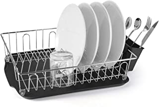 "Dish Drying Rack, Sunix Kitchen Dish Drainer Rack with Removable Tray and Utensil Holder for Kitchen Counter Top, 16.1"" x 12.3"" x 4.3"""