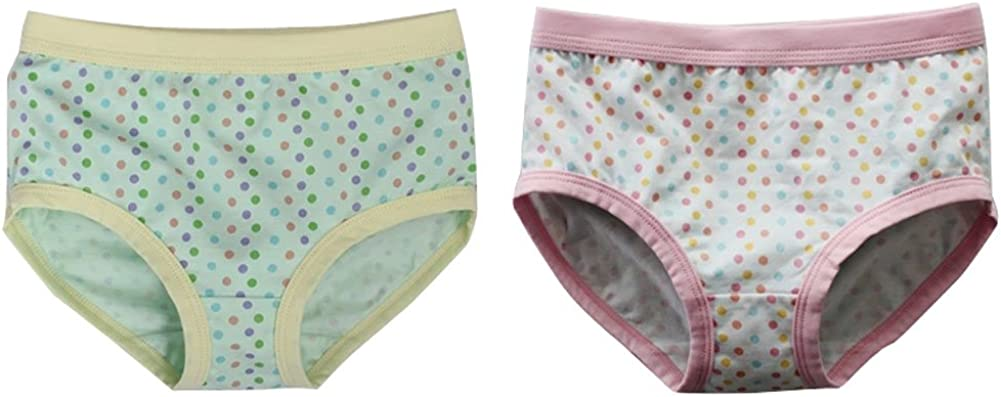 2 Pack Lovely Dots Cotton Briefs Panties for Girls/Height 140CM