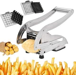 TWSOUL Coupe-Frites en pour Pommes de Terre et légumes,Comprend Deux Lames Tranchantes en Acier Inoxydable Et Une Base D'a...