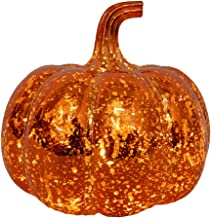 Minkissy Kwik glas pompoen licht glas licht up pompoen decoratieve pompoenen herfst middenstukken voor tafeldecoraties (ba...