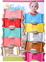 DEEKA Grosgrain Ribbon Bows Headbands Fashion Hair Bows Hair Band for Baby Girls