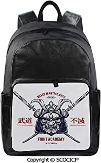 SCOCICI Backpack Lightweight School Bag Distressed Rustic Featured Graphic Work